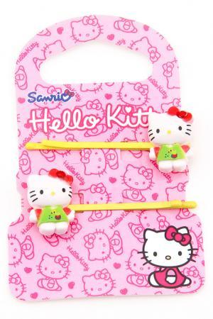Заколка-невидимка, 2 шт. Hello Kitty. Цвет: желтый