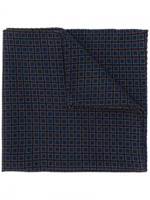Нагрудный платок с принтом маленьких квадратов Lardini. Цвет: коричневый