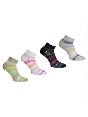 Носки, 4 пары Master Socks. Цвет: белый, черный, хаки, серый