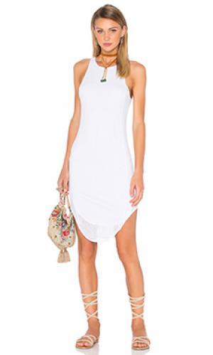 Платье миди mesh Bella Luxx. Цвет: белый