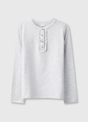 Блузка для девочек OSTIN. Цвет: серебряный