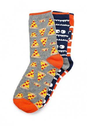 Комплект носков 3 пары Gap. Цвет: серый