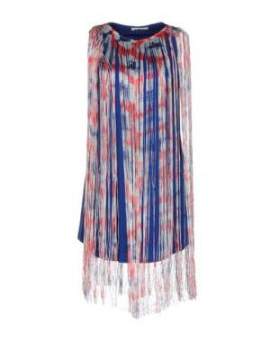 Короткое платье NIOI. Цвет: синий