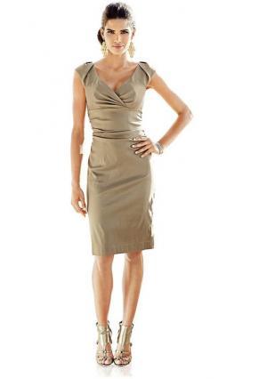 Коктейльное платье Ashley Brooke. Цвет: золотистый