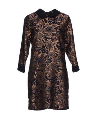 Короткое платье ANONYME DESIGNERS. Цвет: бежевый