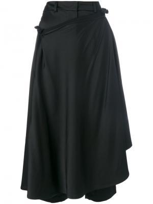 Драпированные брюки-юбка A.W.A.K.E.. Цвет: чёрный