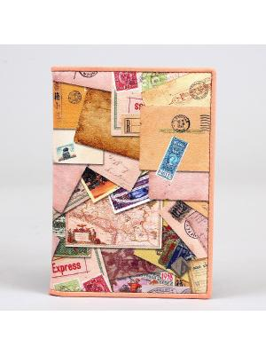 Обложка для документов Flioraj. Цвет: бежевый, розовый