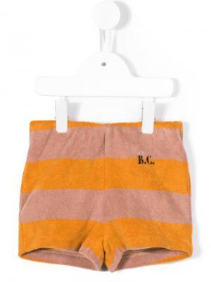 Striped shorts Bobo Choses. Цвет: коричневый