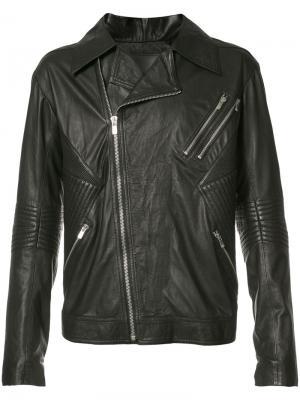 Куртка Ribbed Moto Skingraft. Цвет: чёрный