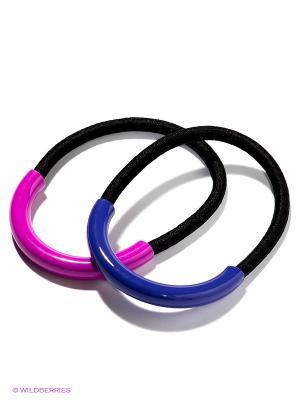 Резинка для волос, 2 шт. Selena. Цвет: фиолетовый, фуксия, черный