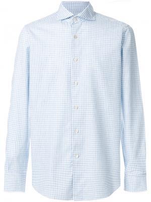 Рубашка в клетку Alessandro Gherardi. Цвет: синий