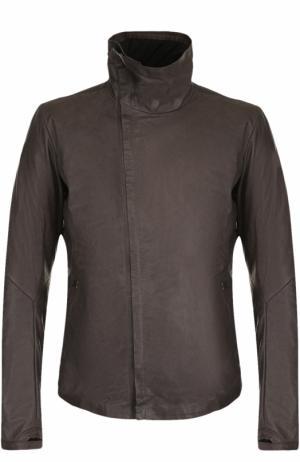 Кожаная куртка на молнии с воротником-стойкой Isaac Sellam. Цвет: темно-серый