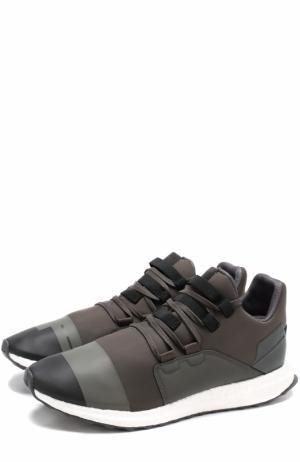 Текстильные кроссовки Kozoko на шнуровке Y-3. Цвет: хаки