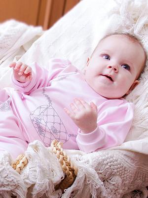 Водолазка Lucky Child. Цвет: розовый