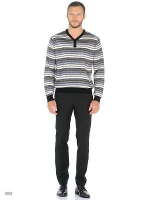 Пуловер GALS. Цвет: черный, молочный