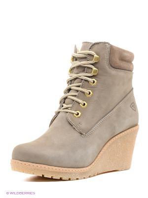 Ботинки Tamaris. Цвет: серый, бежевый