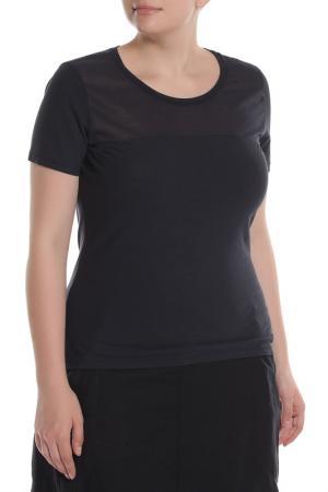 Полуприлегающая футболка с короткими рукавами EUROPEAN CULTURE. Цвет: темно-синий