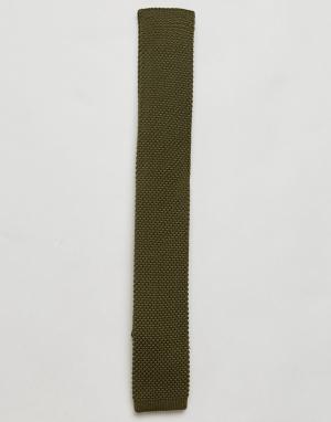 Gianni Feraud Вязаный галстук. Цвет: зеленый