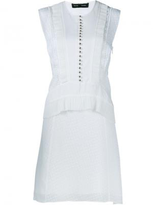 Платье без рукавов Proenza Schouler. Цвет: белый
