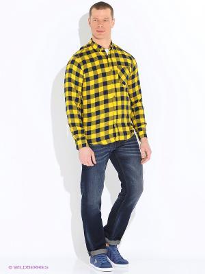 Рубашка TOM TAILOR. Цвет: желтый