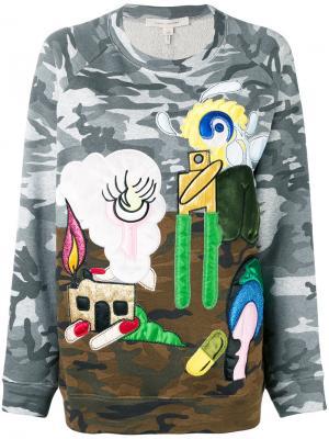 Джемпер с заплатками landscape Marc Jacobs. Цвет: зелёный