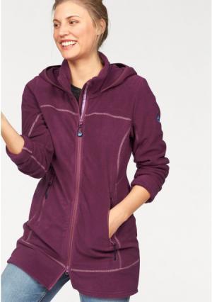 Флисовая куртка POLARINO. Цвет: ягодный