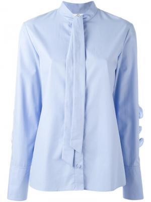 Рубашка с оборками Steve J & Yoni P. Цвет: синий
