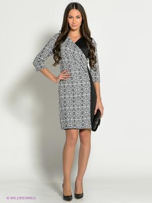 Платье Dea Fiori. Цвет: черный, белый
