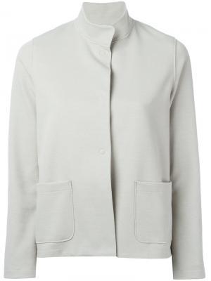 Куртка с воротником-стойкой Harris Wharf London. Цвет: серый