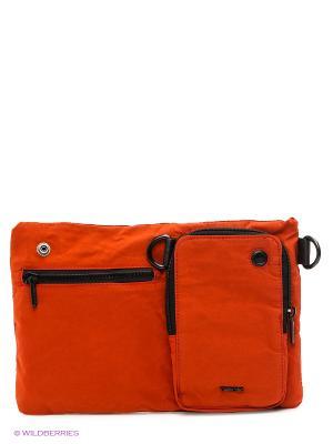 Сумка GEOX. Цвет: оранжевый, черный