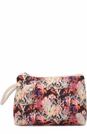 Клатч из текстиля с принтом Bonfanti. Цвет: розовый