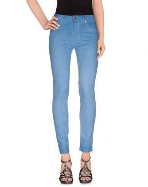 Джинсовые брюки BLUE LUXURY. Цвет: лазурный