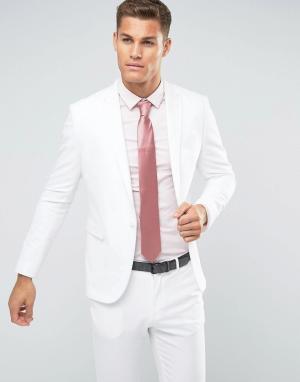 ASOS Белый пиджак скинни. Цвет: белый