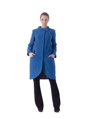 Пальто LUDMILA LABKOVA. Цвет: синий
