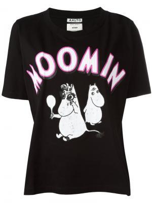 Moomin T-shirt Aalto. Цвет: чёрный