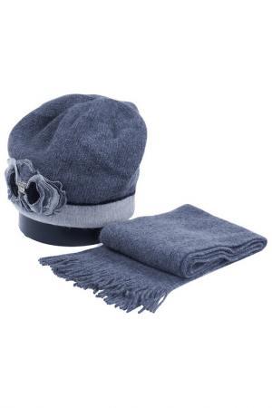 Комплект: шапка, шарф Vittorio Richi. Цвет: серый