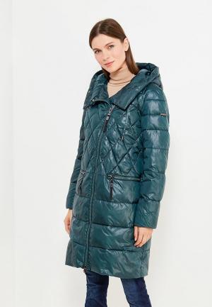 Куртка утепленная Finn Flare. Цвет: зеленый