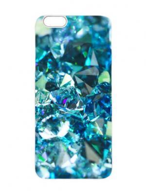 Чехол для iPhone 6 Топазы Chocopony. Цвет: голубой, темно-синий, темно-зеленый