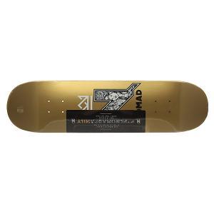 Дека для скейтборда  N-Gang Logo Gold Deck 31.75 x 8.0 (20.3 см) Nomad. Цвет: желтый
