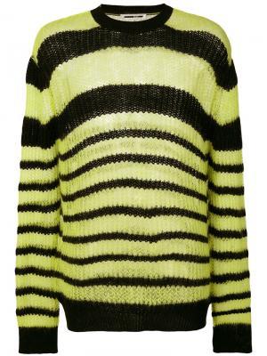 Полосатый свитер McQ Alexander McQueen. Цвет: жёлтый и оранжевый