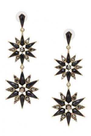 Серьги с кристаллами RubyNovich. Цвет: черный