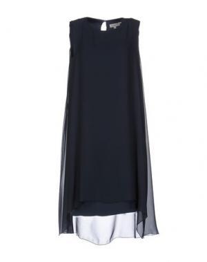 Короткое платье ANTONELLI. Цвет: грифельно-синий