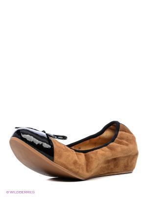 Балетки Shoe the Bear. Цвет: темно-коричневый