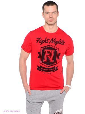 Футболка Fight Nights. Цвет: красный, черный