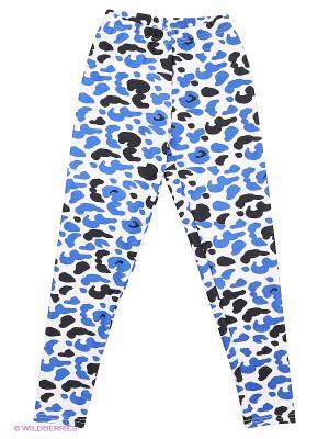 Леггинсы EMDI. Цвет: черный, голубой, белый