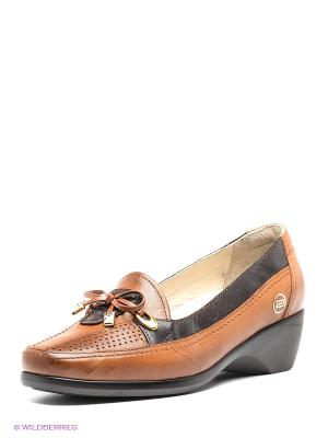 Туфли Atiker. Цвет: коричневый