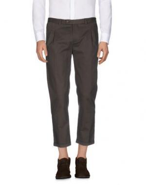 Повседневные брюки DANIELE ALESSANDRINI. Цвет: темно-зеленый