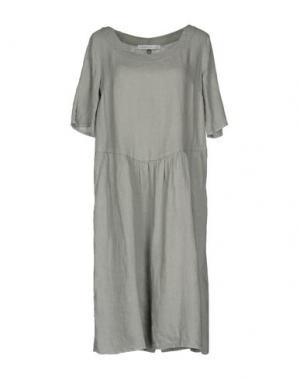Платье до колена LA FABBRICA del LINO. Цвет: серый