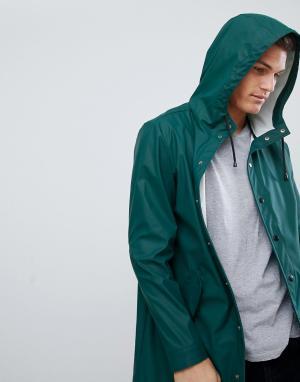 ASOS Зеленый водонепроницаемый дождевик DESIGN. Цвет: зеленый
