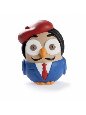 Керамическая статуэтка сова Сальвадор Дали Goofi. Цвет: синий